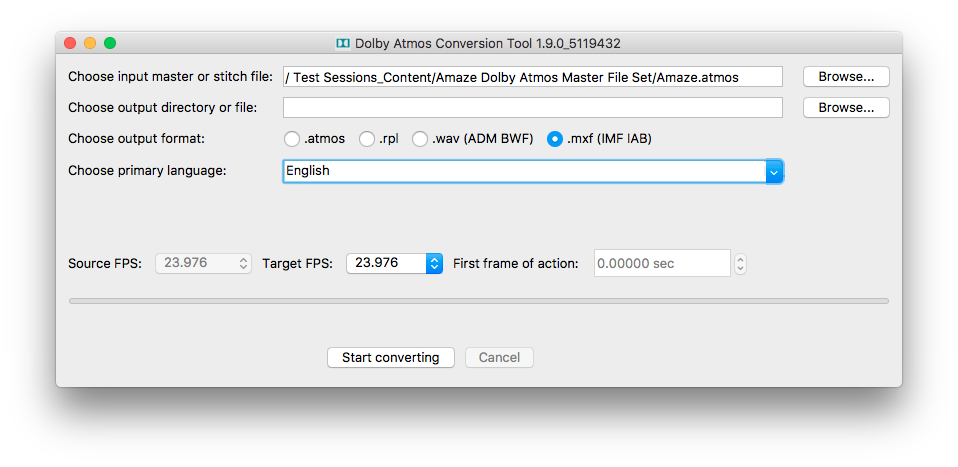 Dolby Atmos Conversion Tool | Dolby Developer